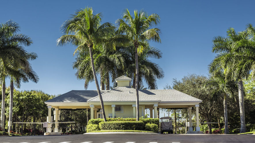 Guard entrance to gated community in South Florida FPI Security Services